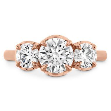 Hearts on Fire 0.54 ctw. Juliette HOF Three Stone Semi-Mount in 18K Rose Gold