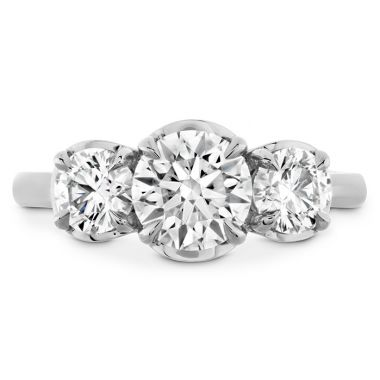 Hearts on Fire Juliette HOF Three Stone Semi-Mount in 18K White Gold