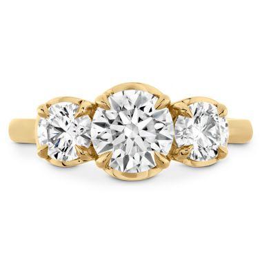 Hearts on Fire Juliette HOF Three Stone Semi-Mount in 18K Yellow Gold