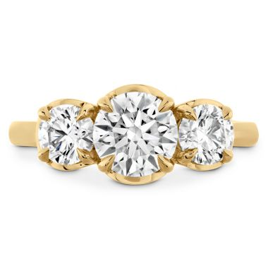 Hearts on Fire 1.2 ctw. Juliette HOF Three Stone Semi-Mount in 18K Yellow Gold