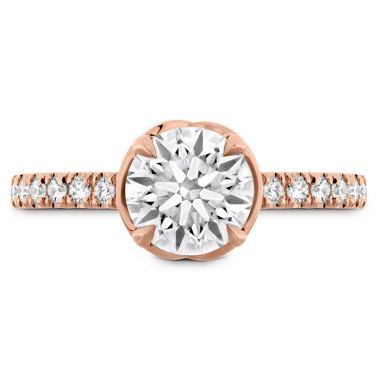 Hearts on Fire 0.21 ctw. Juliette Diamond Band Semi-Mount in 18K Rose Gold