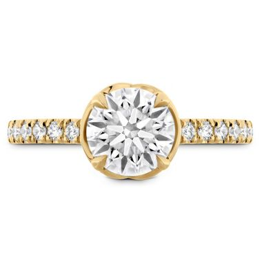 Hearts on Fire 0.21 ctw. Juliette Diamond Band Semi-Mount in 18K Yellow Gold