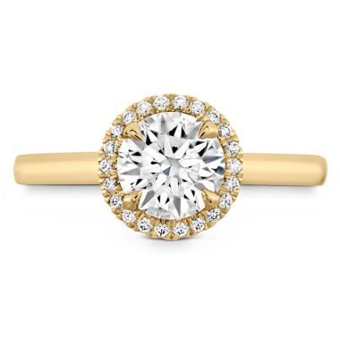 Hearts on Fire 0.06 ctw. Juliette HOF Halo Semi-Mount in 18K Yellow Gold