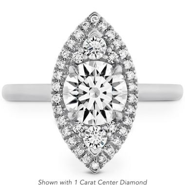 Hearts on Fire 0.21 ctw. Juliette Marquise Halo Engagement Ring in 18K White Gold
