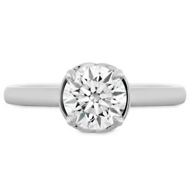 Hearts on Fire Juliette Solitaire Semi-Mount in Platinum
