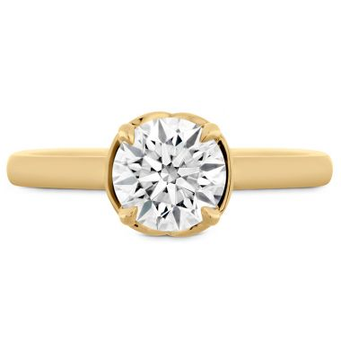 Hearts on Fire Juliette Solitaire Semi-Mount in 18K Yellow Gold