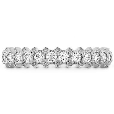 Hearts on Fire 0.45 ctw. Liliana Bezel Milgrain Diamond Band in 18K White Gold