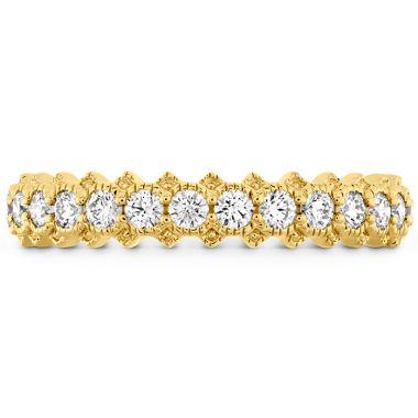 Hearts on Fire 0.45 ctw. Liliana Bezel Milgrain Diamond Band in 18K Yellow Gold