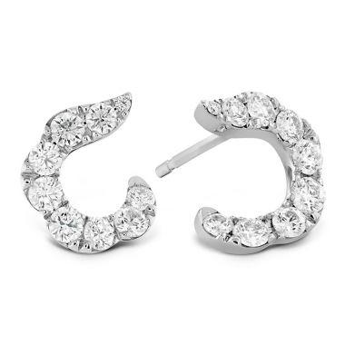 Hearts on Fire 1.15 ctw. Lorelei Crescent Diamond Earrings in 18K Rose Gold