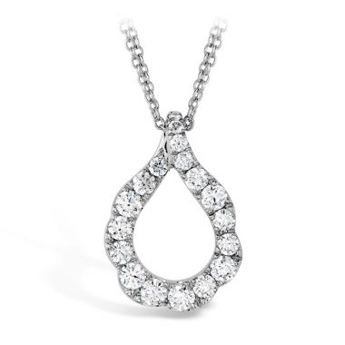 Hearts on Fire 1 ctw. Lorelei Crescent Diamond Pendant in 18K Yellow Gold