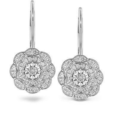 Hearts on Fire 0.7 ctw. Lorelei Double Halo Diamond Drop Earrings in 18K White Gold