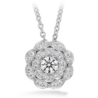 Hearts on Fire 0.35 ctw. Lorelei Double Halo Diamond Pendant in 18K White Gold