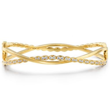Hearts on Fire 0.65 ctw. Lorelei Floral Twist Bangle in 18K Yellow Gold