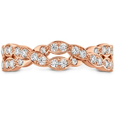 Hearts on Fire 0.4 ctw. Lorelei Floral Dia Double Twist Band in 18K Rose Gold
