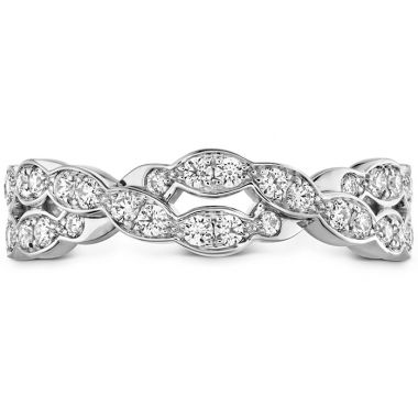Hearts on Fire 0.4 ctw. Lorelei Floral Dia Double Twist Band in Platinum