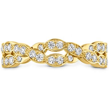 Hearts on Fire 0.4 ctw. Lorelei Floral Dia Double Twist Band in 18K Yellow Gold