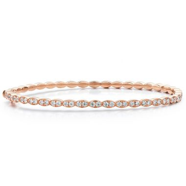 Hearts on Fire 0.9 ctw. Lorelei Floral Diamond Bangle in 18K Rose Gold