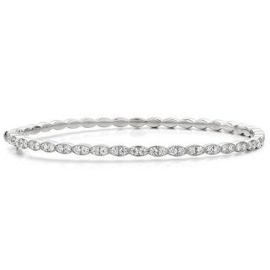 Hearts on Fire 0.98 ctw. Lorelei Floral Diamond Bangle in 18K White Gold