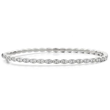 Hearts on Fire 1.12 ctw. Lorelei Floral Diamond Bangle in 18K White Gold