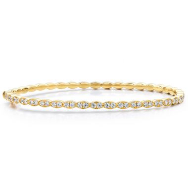 Hearts on Fire 1.12 ctw. Lorelei Floral Diamond Bangle in 18K Yellow Gold