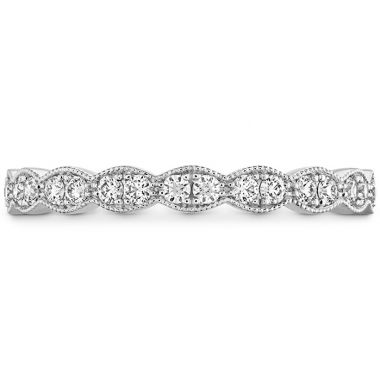 Hearts on Fire 0.25 ctw. Lorelei Floral Milgrain Diamond Band in 18K White Gold