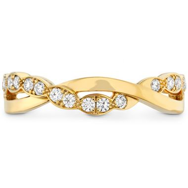 Hearts on Fire 0.2 ctw. Lorelei Floral Twist Band in 18K Rose Gold