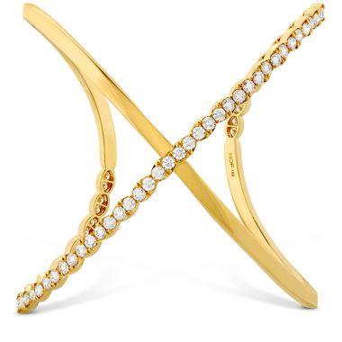 Hearts on Fire 4.3 ctw. Lorelei Criss Cross Cuff in 18K Yellow Gold