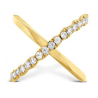 Hearts on Fire 0.6 ctw. Lorelei Criss Cross Ring in 18K Yellow Gold