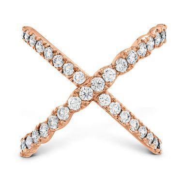 Hearts on Fire 1 ctw. Lorelei Diamond Criss Cross Ring in 18K Rose Gold