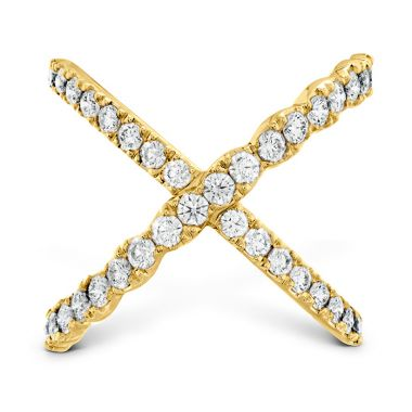 Hearts on Fire 1 ctw. Lorelei Diamond Criss Cross Ring in 18K Yellow Gold