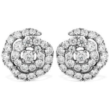 Hearts on Fire 1.9 ctw. Lorelei Diamond Floral Earrings in 18K White Gold