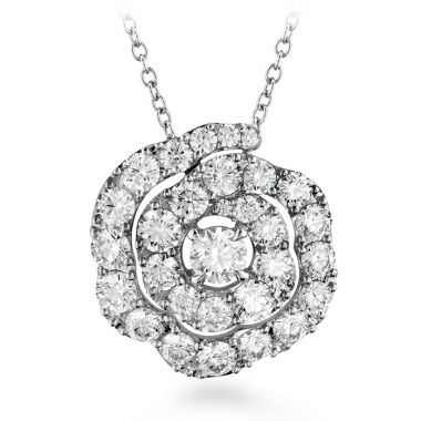 Hearts on Fire 1 ctw. Lorelei Diamond Floral Pendant in 18K White Gold