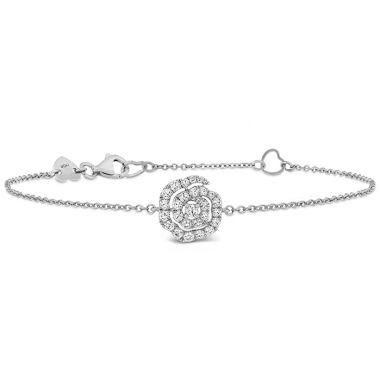 Hearts on Fire 0.27 ctw. Lorelei Diamond Floral Bracelet in 18K White Gold