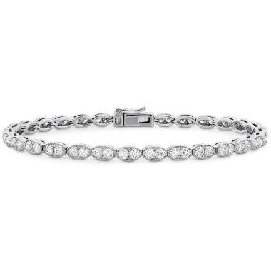 Hearts on Fire 3.2 ctw. Lorelei Floral Diamond Line Bracelet - L in 18K Yellow Gold