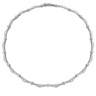 Hearts on Fire 9.35 ctw. Lorelei Ribbon Diamond Line Necklace in 18K White Gold