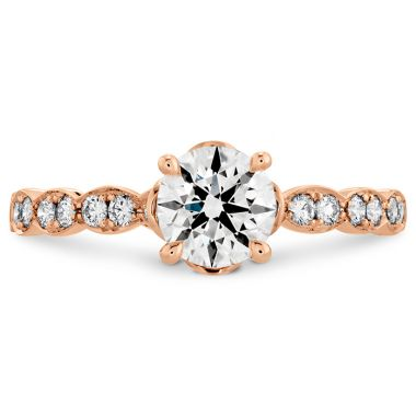 Hearts on Fire 0.15 ctw. Lorelei Floral Engagement Ring-Diamond Band in 18K Rose Gold