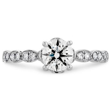 Hearts on Fire 0.15 ctw. Lorelei Floral Engagement Ring-Diamond Band in Platinum