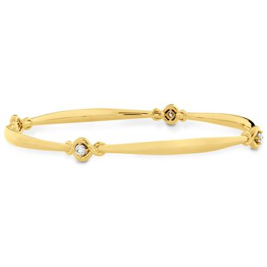 Hearts on Fire 0.3 ctw. Optima Four Station Diamond Bangle in 18K Yellow Gold