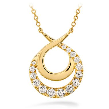 Hearts on Fire 0.75 ctw. Optima Double Circle Necklace in 18K Yellow Gold
