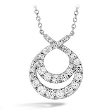 Hearts on Fire 1.25 ctw. Optima Double Circle Diamond Necklace in 18K White Gold