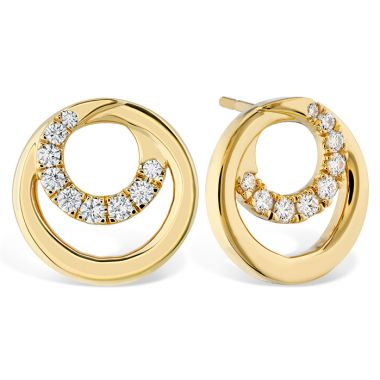Hearts on Fire 0.39 ctw. Optima Circle Earrings in 18K Rose Gold