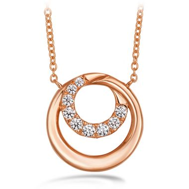 Hearts on Fire 0.19 ctw. Optima Circle Pendant in 18K Rose Gold