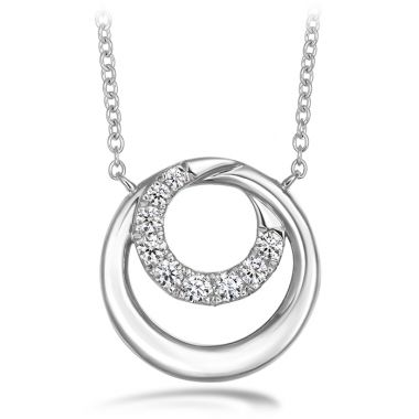 Hearts on Fire 0.19 ctw. Optima Circle Pendant in 18K White Gold