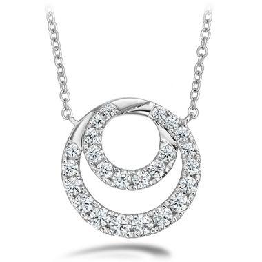 Hearts on Fire 0.57 ctw. Optima Diamond Circle Pendant in 18K White Gold