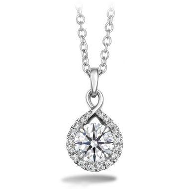 Hearts on Fire 0.56 ctw. Optima Diamond Drop Pendant in Platinum
