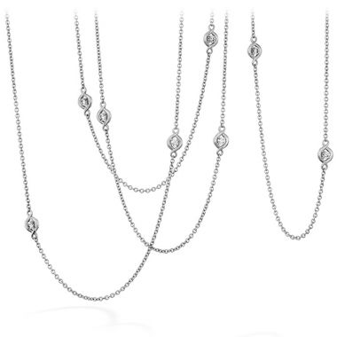 Hearts on Fire 1.04 ctw. Optima Station Necklace in 18K White Gold