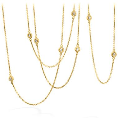 Hearts on Fire 1.63 ctw. Optima Station Necklace in 18K Yellow Gold
