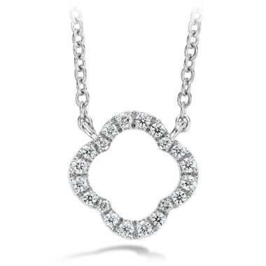 Hearts on Fire 0.1 ctw. Signature Petal Pendant in Platinum
