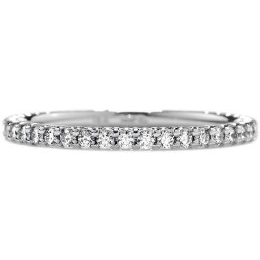 Hearts on Fire 0.3 ctw. Simply Bridal Wedding Band in 18K White Gold