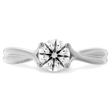 Hearts on Fire 0.33 ctw. Simply Bridal Twist Solitaire Engagement Ring in 18K White Gold